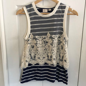 Anthropologie Postage Stamp boho top S